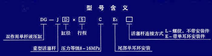 双作用单活塞杆,尾部单耳环安装型液压缸图片