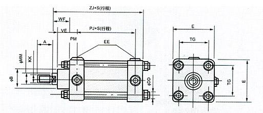 国际标准qgs系列气缸,无锡市兴顺液压制造有限公司